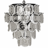 Noir Furniture Alva Chandelier, Metal Finish