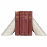Noir Furniture Architectural Bookends, White Marble