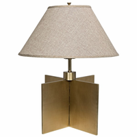 Noir Furniture Architectural Lamp, Antique Brass