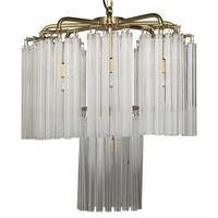 Noir Furniture Babylon Chandelier, Antique Brass Finish