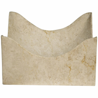 Noir Furniture Bari Tray, Marble