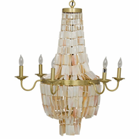 Noir Furniture Bijou Chandelier, Antique Brass, Metal
