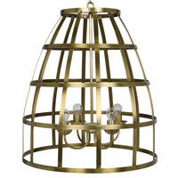 Noir Furniture Birdcage Pendant 305, Antique Brass