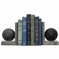 Noir Furniture Black Marble Bookend