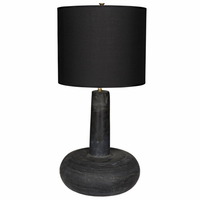 Noir Furniture Black Marble Oblong Table Lamp w/