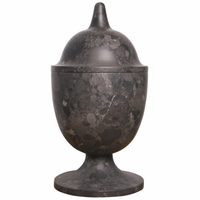 Noir Furniture Black Marble Vessel, Tall