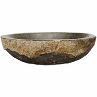 Noir Furniture Boulder Riverstone Bowl, Small