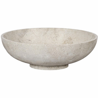 Noir Furniture Bowl, White Marble