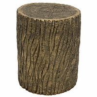 Noir Furniture Brass Log Stool