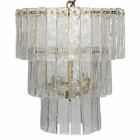 Noir Furniture Bruna Chandelier, Small, Antique Brass