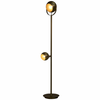 Noir Furniture Bullet Floor Lamp, Antique Brass