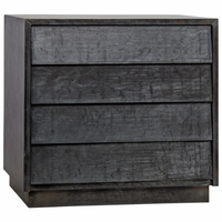 Noir Furniture Come As You Are, 4 Drawer, Plain Zinc