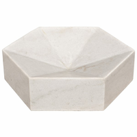 Noir Furniture Conda Tray, White Stone