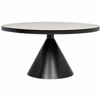 Noir Furniture Cone Dining Table, Metal