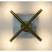 Noir Furniture Cross Sconce, Antique Brass