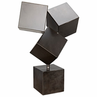 Noir Furniture Cubist Sculpture, Metal