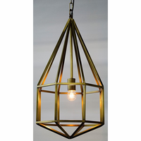Noir Furniture Diamond Pendant, A, Antique Brass