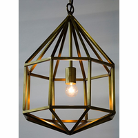 Noir Furniture Diamond Pendant, B, Antique Brass