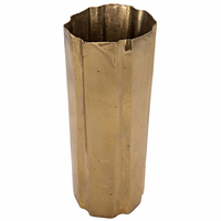 Noir Furniture Edge Vase, Brass