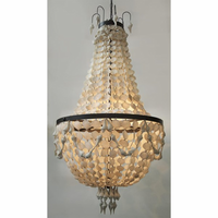 Noir Furniture Elizabeth Chandelier, Resin Shell