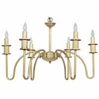 Noir Furniture Exton Chandelier, Small, Antique Brass