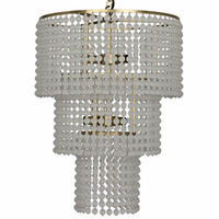 Noir Furniture Fatima Chandelier, Metal w/ Brass Finish