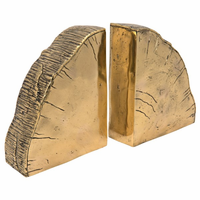 Noir Furniture Fossil Booksends, Brass