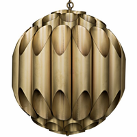 Noir Furniture Globular Chandelier, Metal w/ Brass