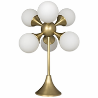 Noir Furniture Globular Table Lamp, Metal w/ Brass