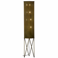 Noir Furniture Go For It Floor Lamp, Metal w/Brass Finish