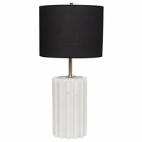 Noir Furniture Gogol Table Lamp, White Stone