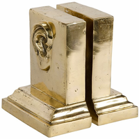 Noir Furniture Hear You Bookend, Brass