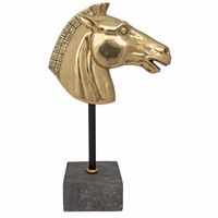 Noir Furniture Horse on Stand, Brass