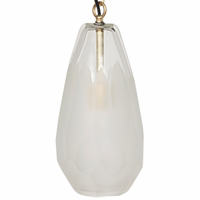 Noir Furniture Ice Pendant, Glass
