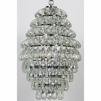 Noir Furniture Illumination Chandelier, Chrome Finish,