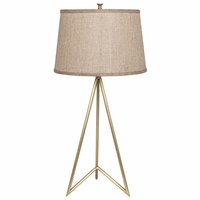 Noir Furniture Jack Table Lamp, Antique Brass
