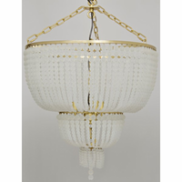 Noir Furniture Karenina Chandelier, Antique Brass