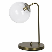 Noir Furniture Knick Table Lamp, Antique Brass