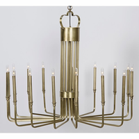 Noir Furniture Kooper Chandelier, Antique Brass