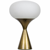 Noir Furniture Landon Lamp, Antique Brass