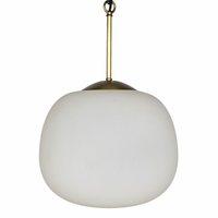 Noir Furniture Lara Pendant, Antique Brass Finish