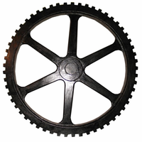 Noir Furniture Large Gear, Hand Rubbed Black