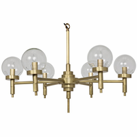 Noir Furniture Leslie Chandelier, Small, Antique Brass