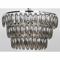Noir Furniture Lolita Chandelier, Large, Chrome Finish,