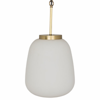 Noir Furniture Lora Pendant, Antique Brass Finish