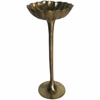 Noir Furniture Lotus Candlestick, Brass
