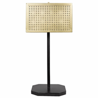 Noir Furniture Lounge Lamp, Antique Brass Finish