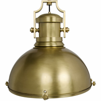 Noir Furniture Marine Fixture Pendant, Antique Brass