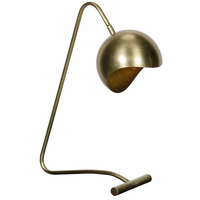 Noir Furniture Merla Lamp, Antique Brass