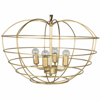 Noir Furniture Mo Pendant, Metal w/Brass Finish